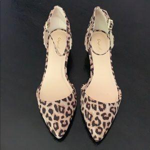 NWOT Cheetah Print block heel